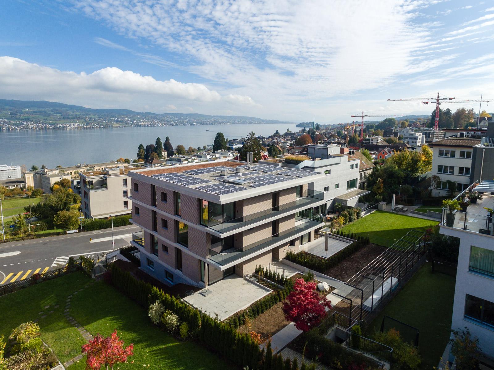 Drohnenfotografie Drohnenaufnahmen Immobilien Zürich Schweiz