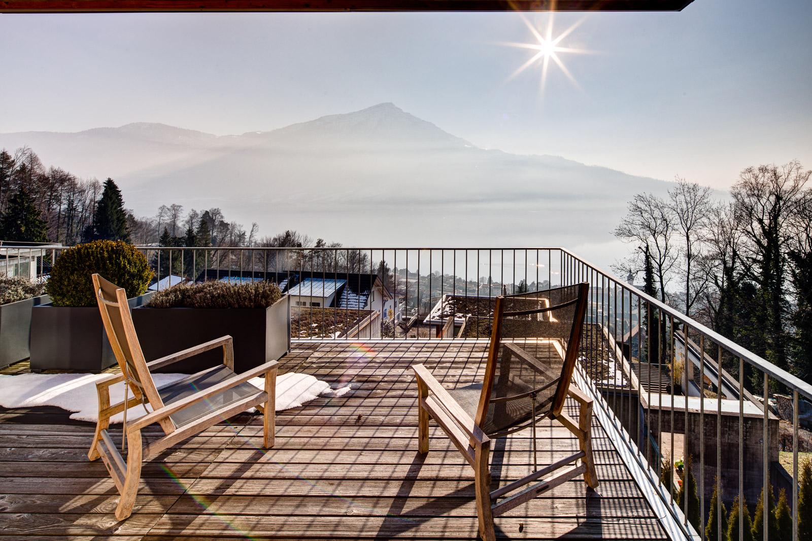 Aussicht Immobilienfotografie Immobilienvermarktung