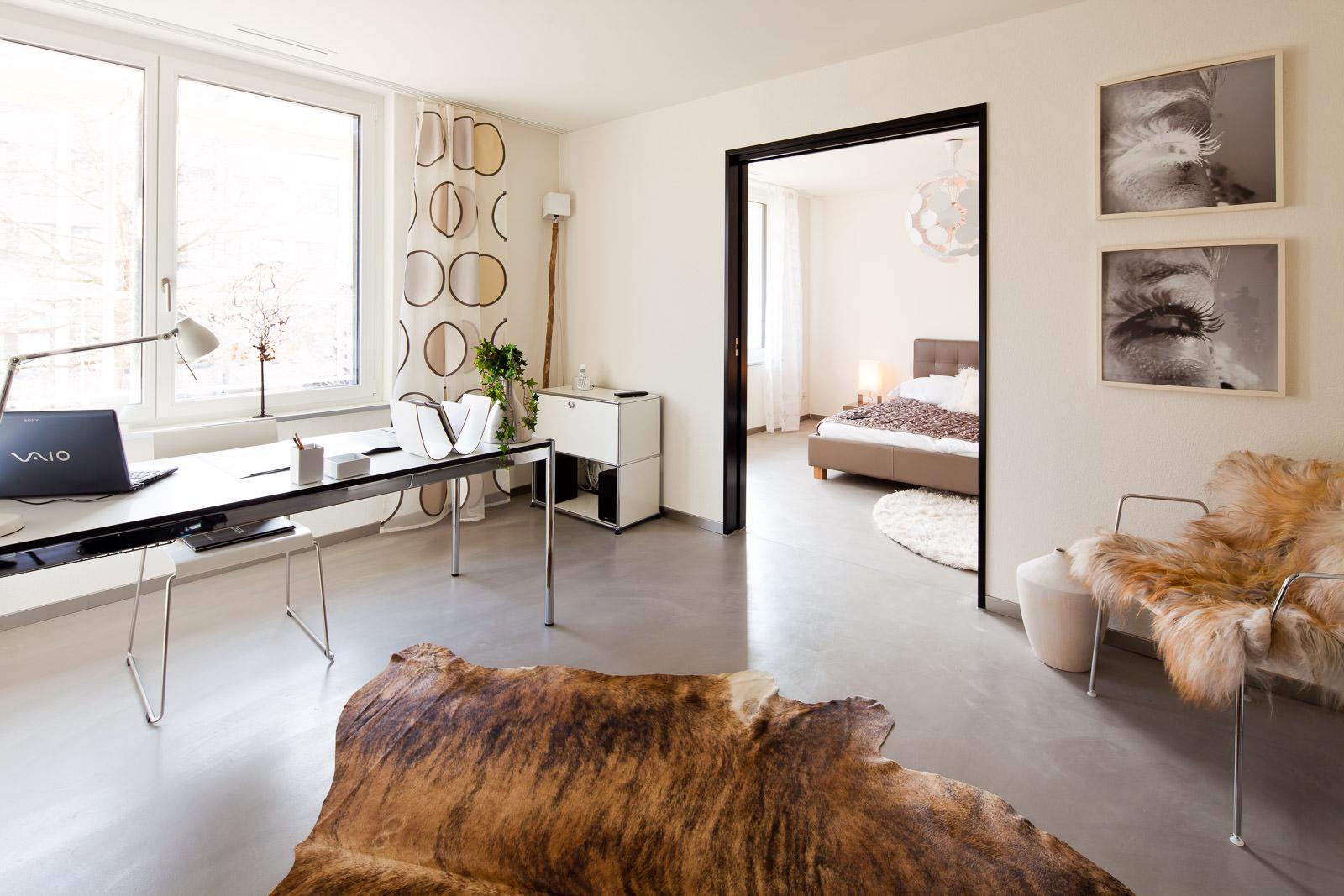 Beispielwohnung eingerichtet - Immobilienfotos Immobilienvermarktung